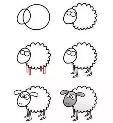 教幼儿园小朋友画小动物,太实用,太简单!图片
