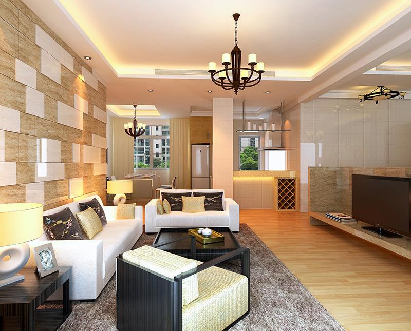 橄榄城伍号院3室2厅138平方现代简约——客厅装修效果图
