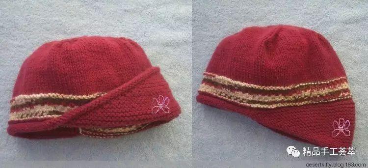 好看的帽子织法说明(洋紫荆)