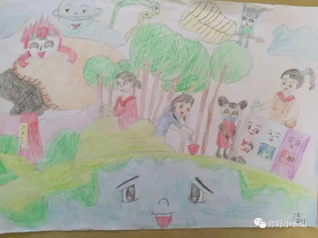 """小长山乡团委为全乡中,小学生布置了一份特别的暑期作业——""""垃圾分类图片"""