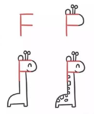 创意简笔画 26个英文字母,宝宝边画画边学习