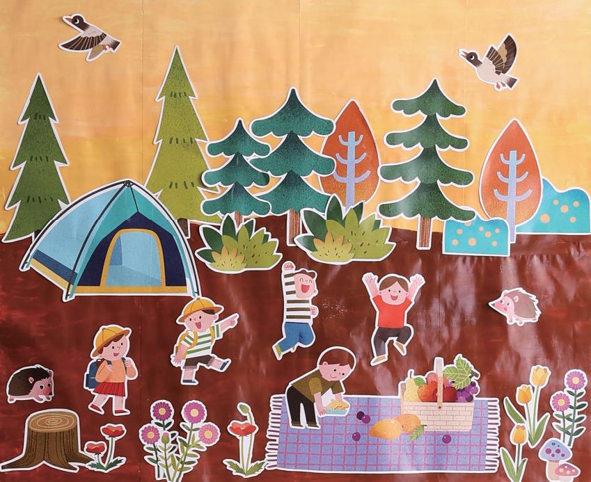 把丰收当做主题墙的环创,也是一种非常好的教育孩子们图片