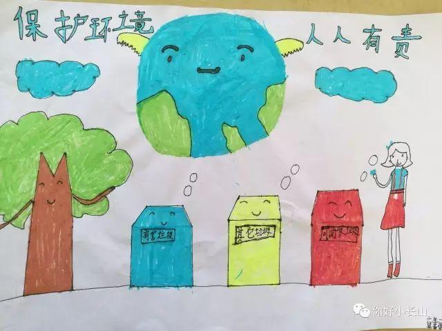 教育 正文  为树立青少年保护生态环境的意识,逐步培养垃圾分类的好图片