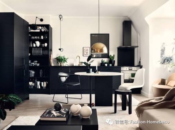 """一个酷黑家具与一个""""千年粉""""碰撞出的闷骚公寓fashion空间"""