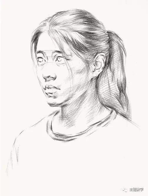 简笔画 女生 五官素描