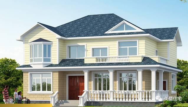 别墅特点: 1,简约欧式田园风,一二楼都用到了屋顶的设计,屋顶采用了