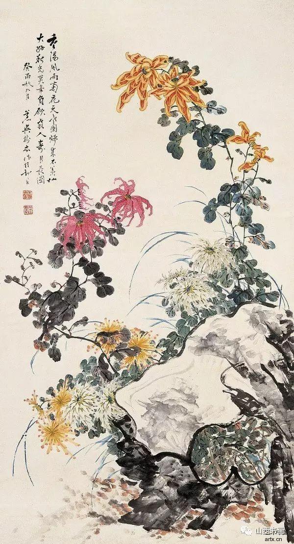 """吴树本""""吴氏菊派""""作品"""