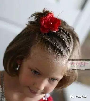 时尚 正文  小女孩刘海编发公主头发型 比如头发短的小孩子梳什么样的