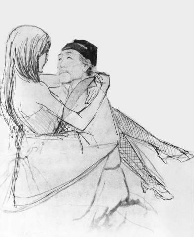 诗人杜甫简笔画