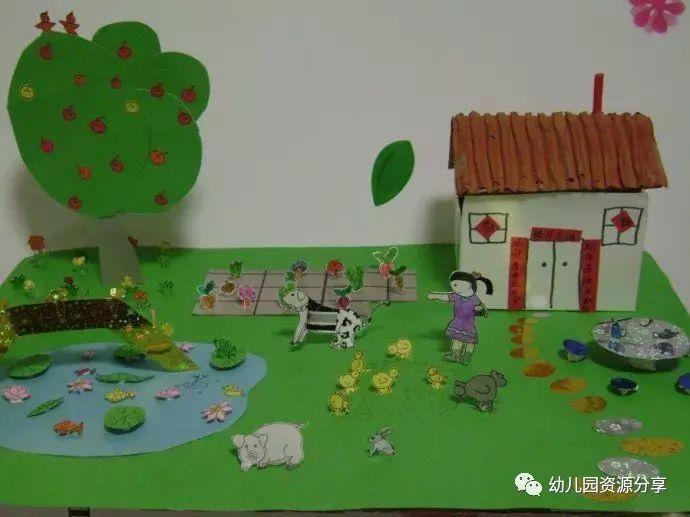 幼儿园手工,农家小院,厉害了!