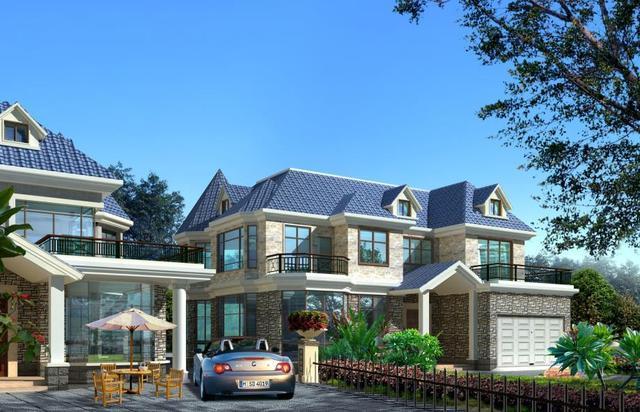 280平造价100万的农村别墅,带地下室,大户型超舒适