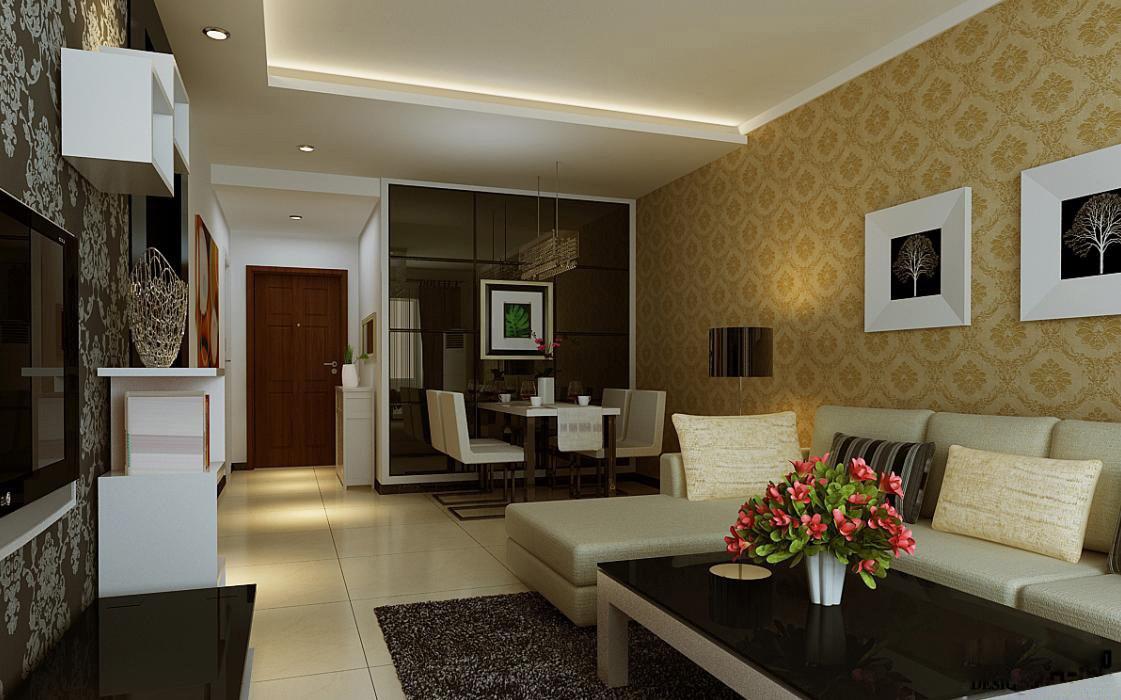 法兰原著139平方四室两厅客厅装修案例