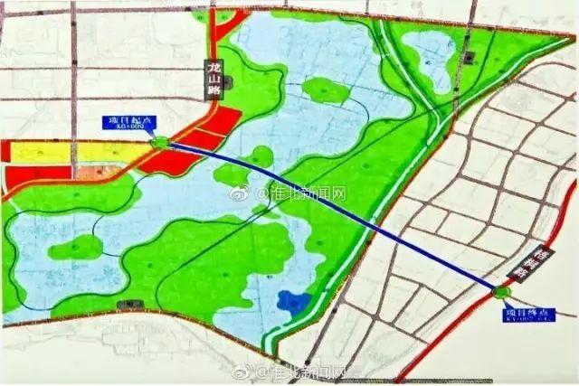 淮北中湖规划图_淮北中湖快速通道即将竣工通车,往来新老城区的人方便