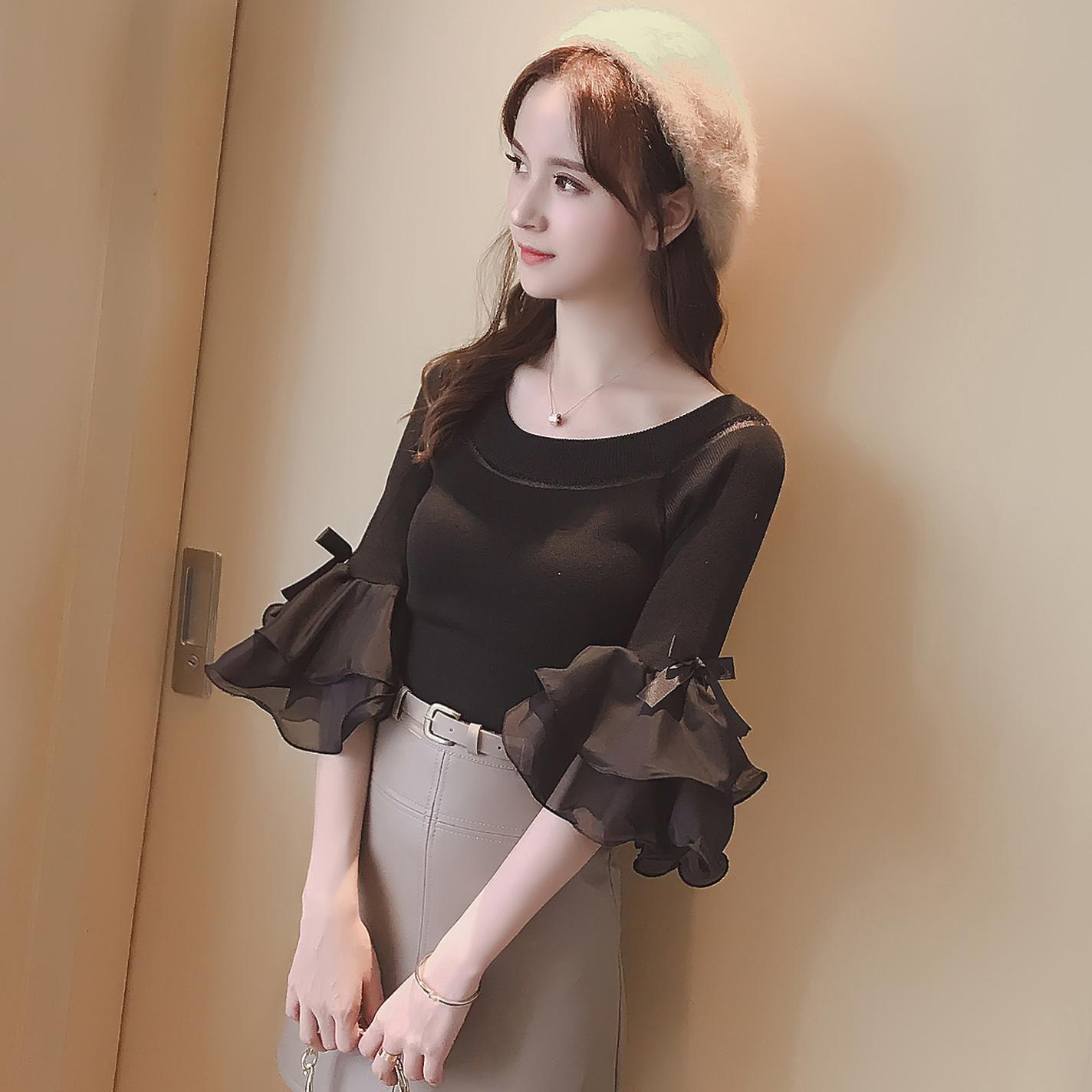 休闲时尚的韩范针织衫,随意搭配都hin有范儿~