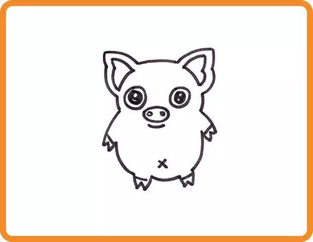 【亲子时间—学画画】十二生肖——猪图片