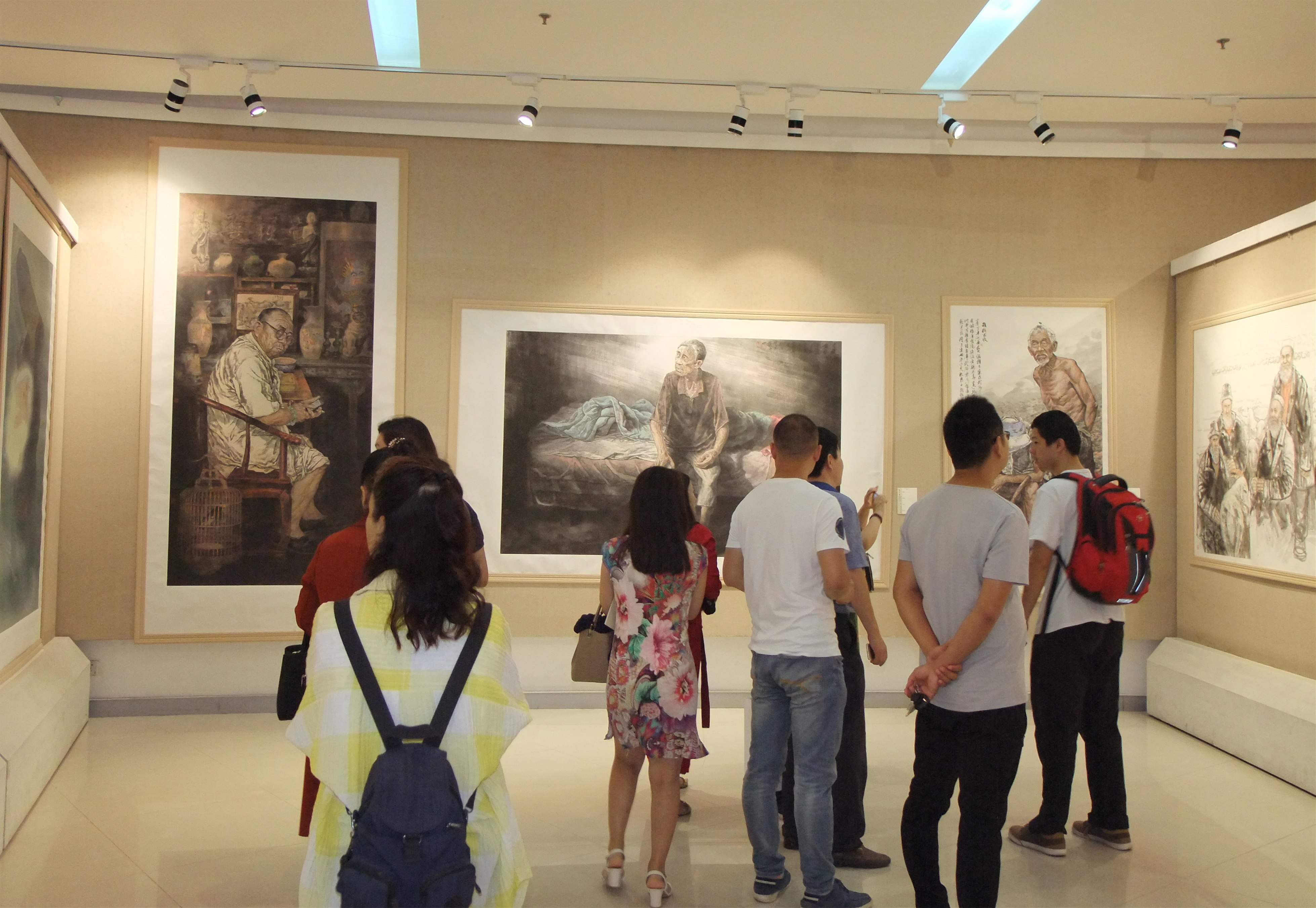 """""""麦尚情""""郑州市第二届中国人物画作品展在郑州美术馆开展"""