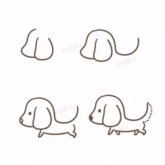 9种小狗简笔画画法