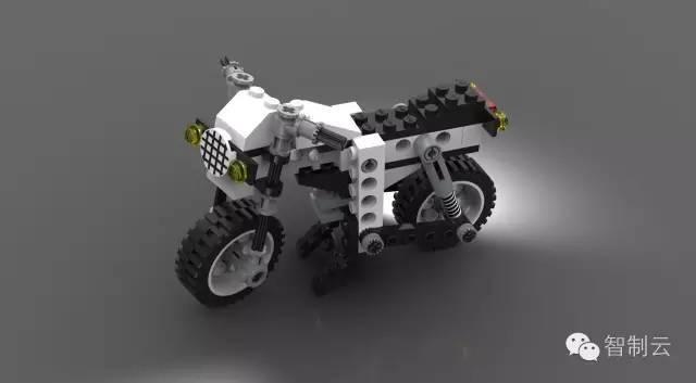 【乐高图纸】乐高科技组lego 8810摩托车图纸 solidworks设计 附step