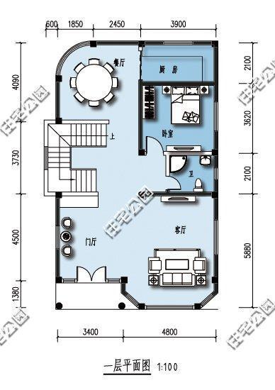 三层别墅设计图8x10