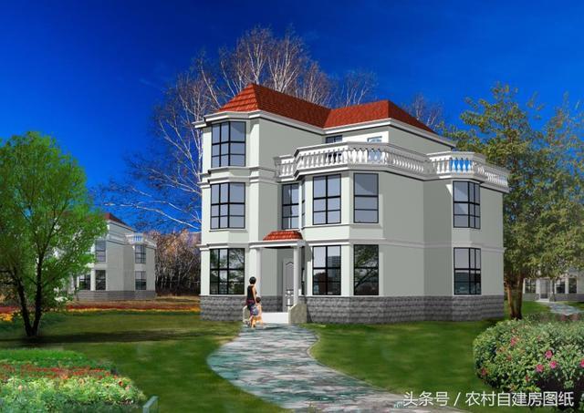 11X12米二层半别墅设计图,造价30万,连挑剔的婆婆都大赞