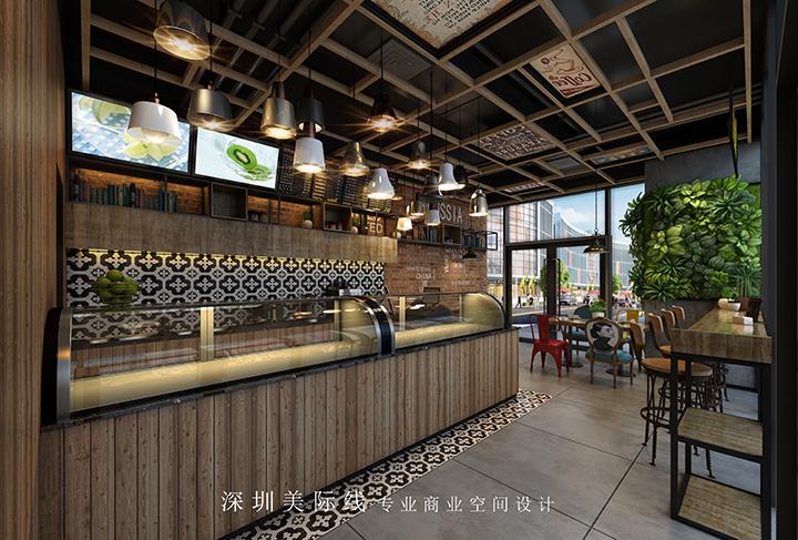 """座位一边,引入仿真绿植,营造出自然的空间氛围,给人一种""""身在城市,心"""