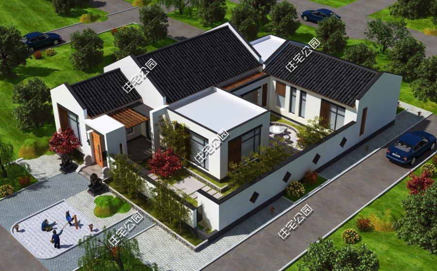 10套新中式合院,农村建房这样可好 3d展示远超效果图