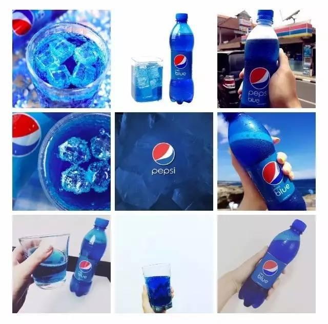 这是百事可乐在巴厘岛和夏威夷,限定销售的蓝色梅子新口味,可谓吸粉无