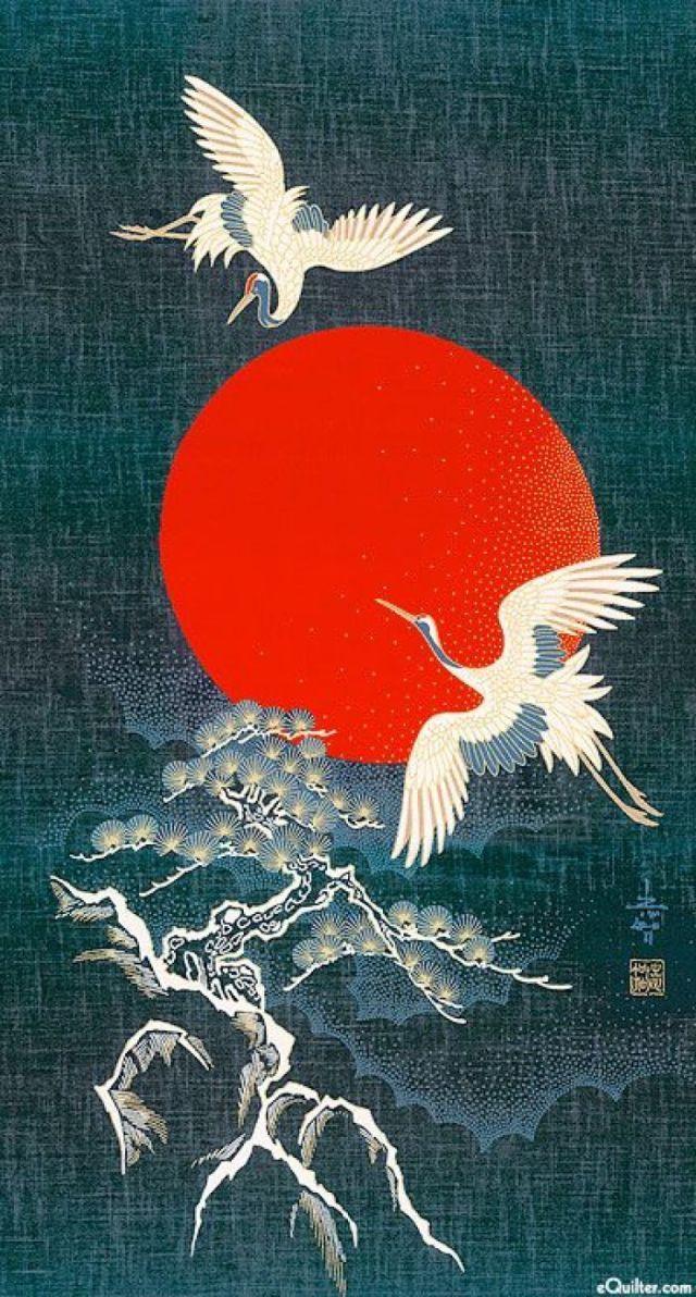 中国传统元素   海为龙世界,云是鹤家乡图片