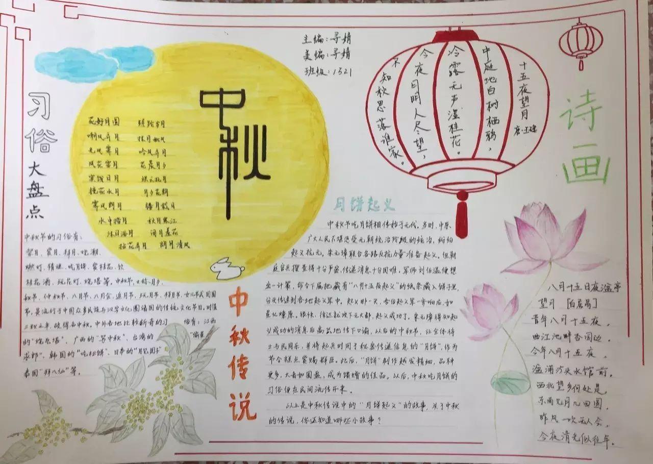 中秋节│精美主题手抄报大集合!