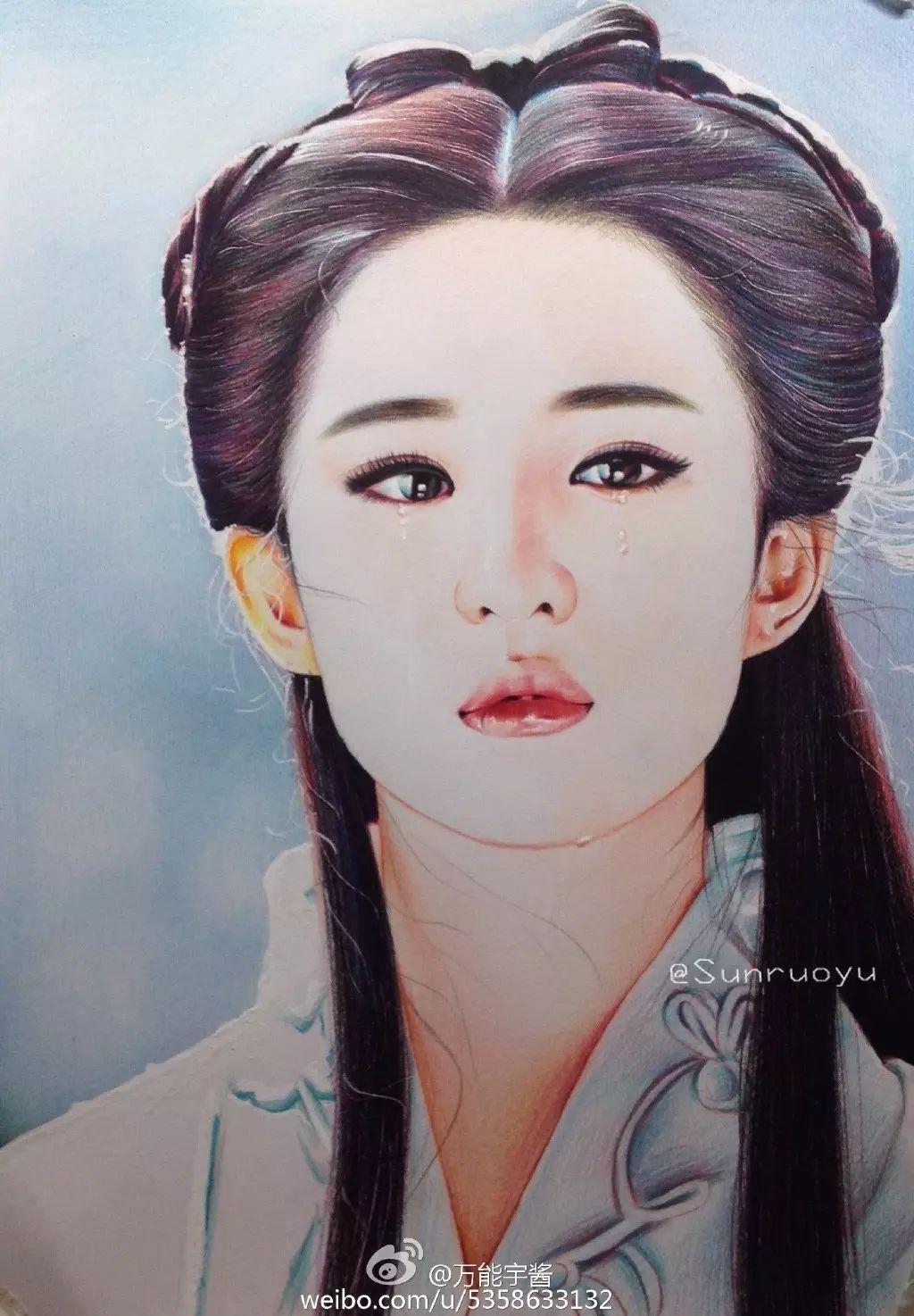 彩铅教程 | 起详细的人物教程,神仙姐姐刘亦菲