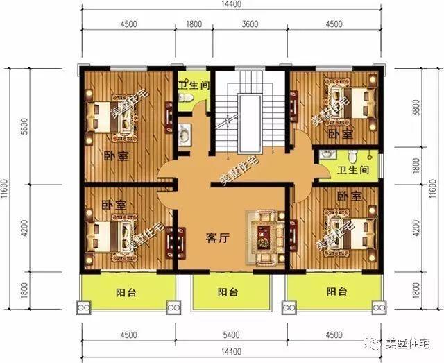 宽八米,进深十一米,带车库的别墅怎样设计需要盖几层呢?图片