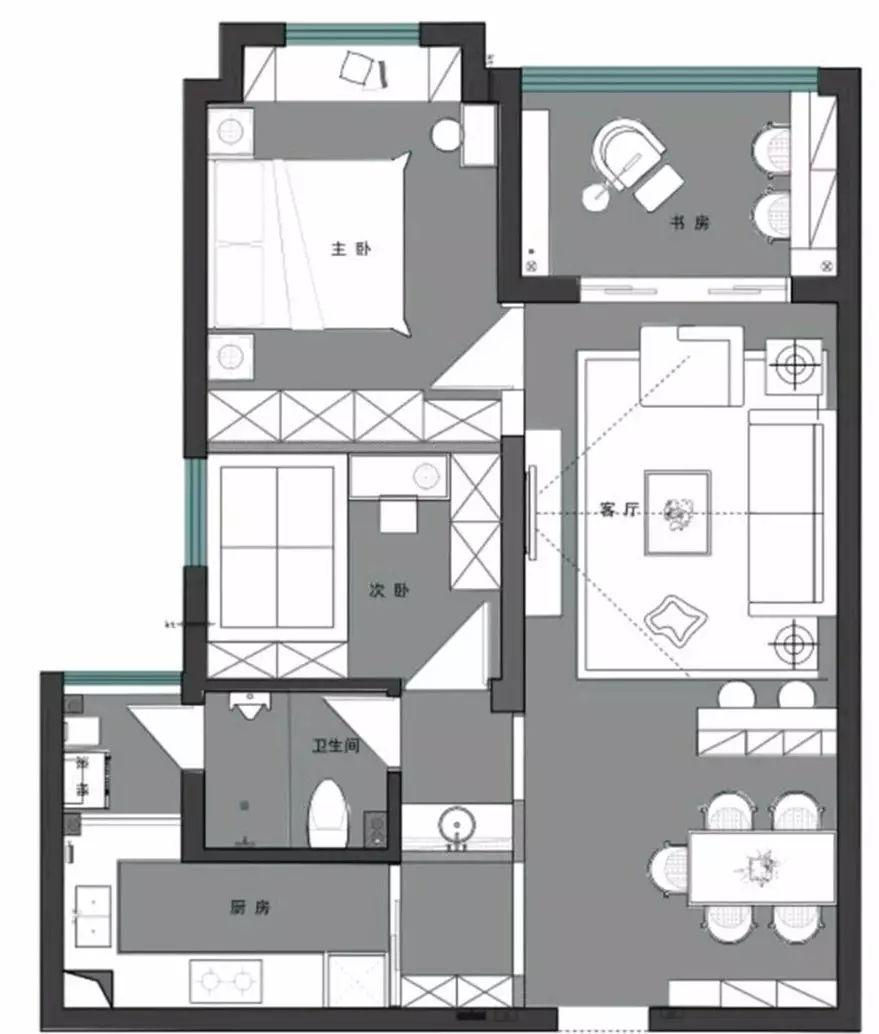 让70多平米的房子变成90平,就是这么简单~乐豪斯