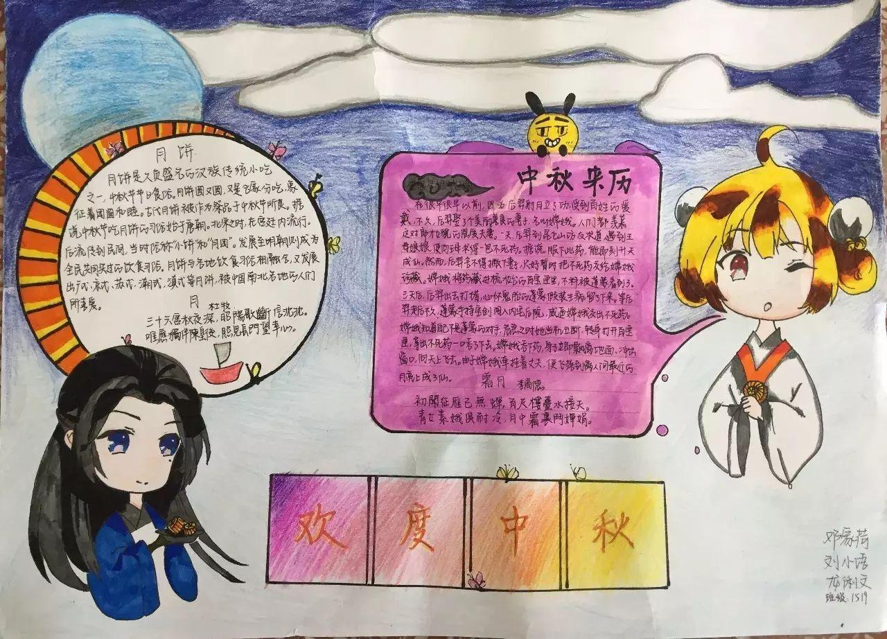 2019中秋节手抄报简单漂亮 中秋节手抄报图片大全图片