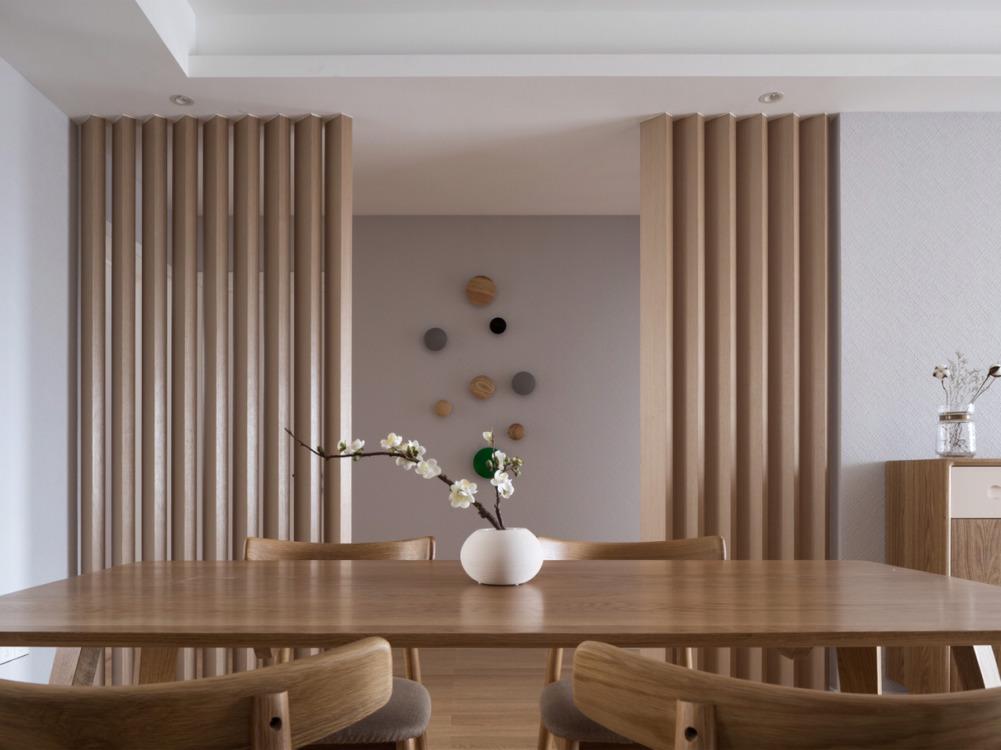 西安松下住空间装饰装修三室两厅120㎡原木极简风,带你体验生活另一番
