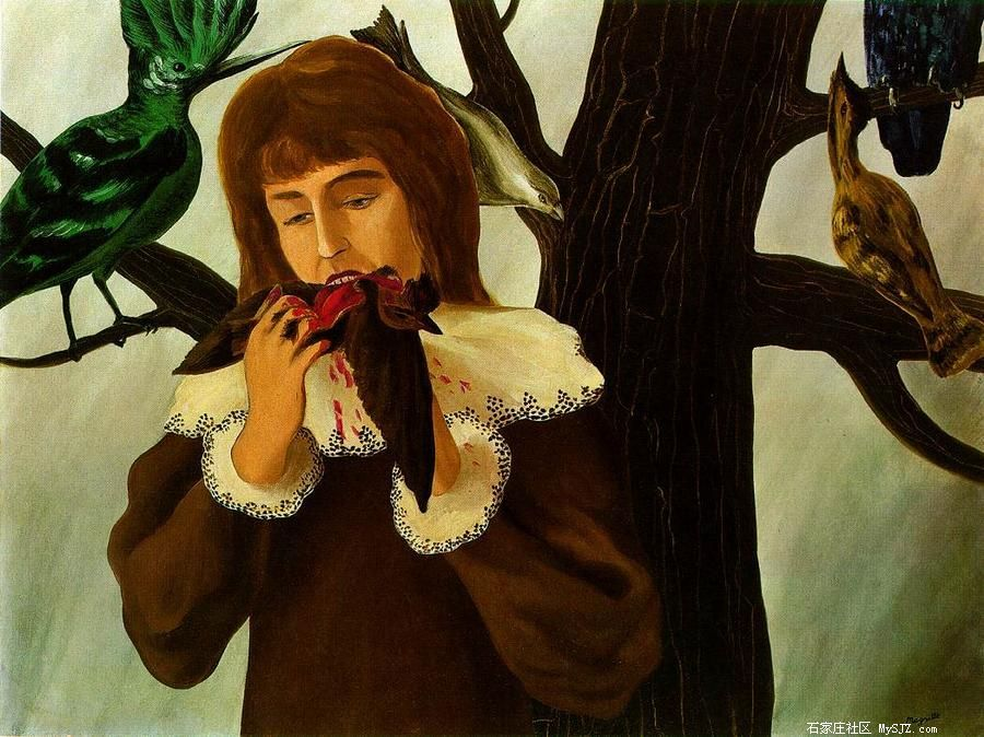 马格利特人物油画作品欣赏