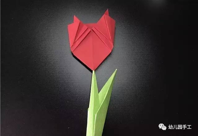 手工折纸vs简笔画,鸡冠花,荷花,玫瑰花,三叶草