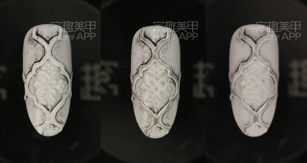 【窝趣复古浮雕远景】a浮雕美甲视频教程款方法x1自动挡操作花纹图片