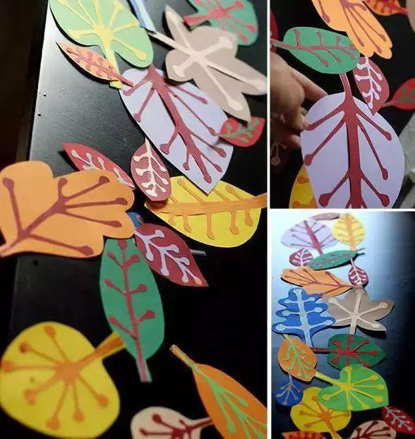 秋季落叶装饰手工制作,让小朋友们感受秋的气息!