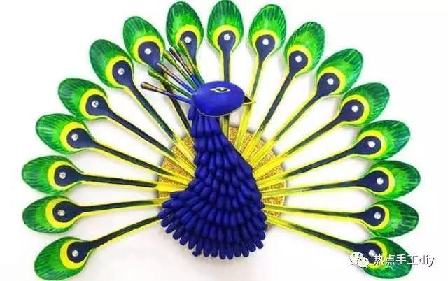 美的让人窒息的创意手工开屏孔雀,令人惊艳的diy手工