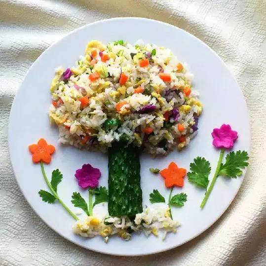善加利用,就会做出让孩子忍不住想尝一尝的米饭.图片