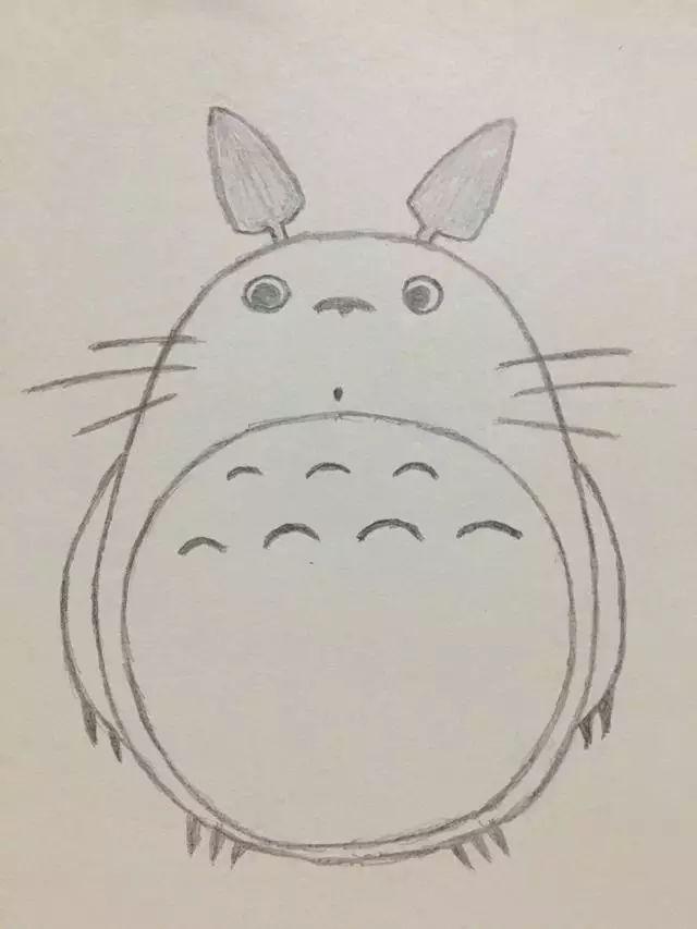 简笔画——龙猫的画法