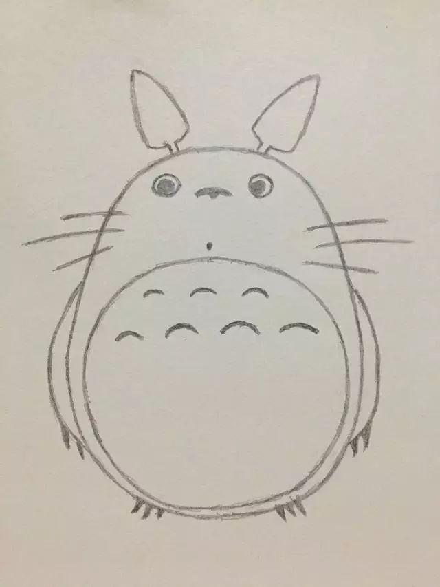 简笔画 龙猫的画法