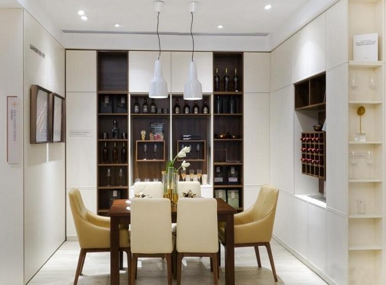 家用转角酒柜设计效果图大全图片