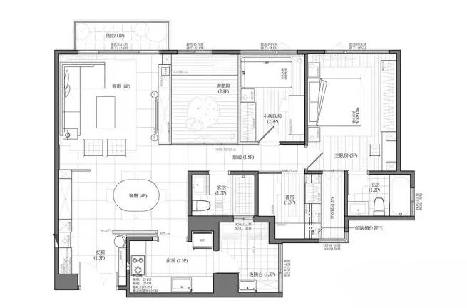 沈阳96平二室改四室旧房装修