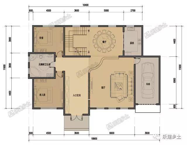 16x14米房子设计图