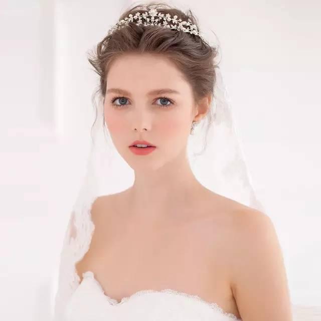 各种风格皇冠新娘造型,尽显女王范儿!图片