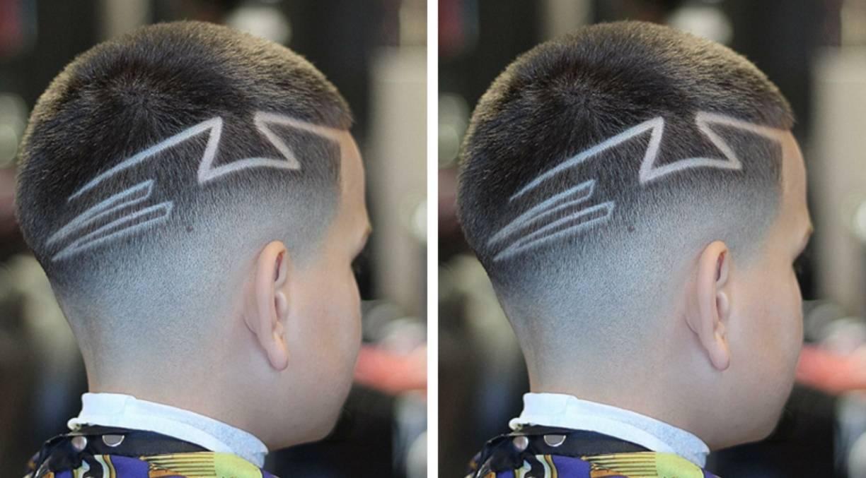 炫酷的男童发型