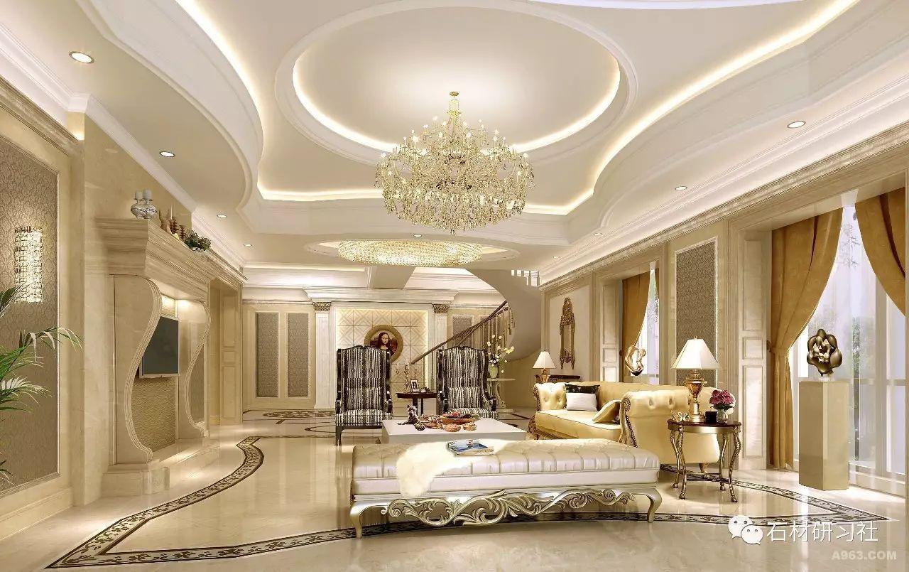 欧式别墅大理石装饰案例