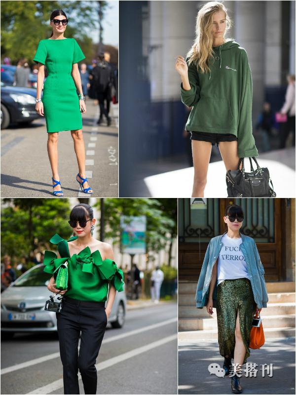 绿色搭配什么颜色才能穿出高级感?