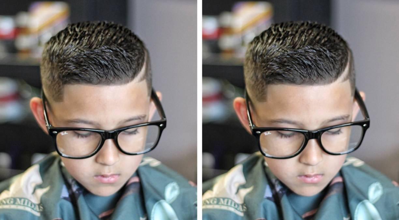 炫酷的男童发型图片图片